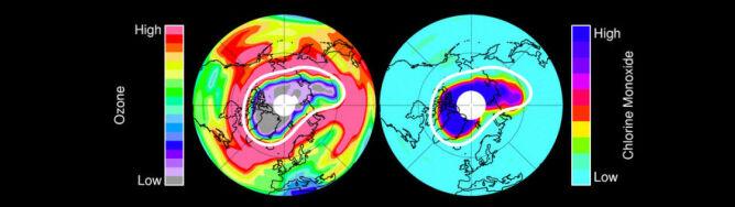 Dziura ozonowa pojawiła się nad Arktyką