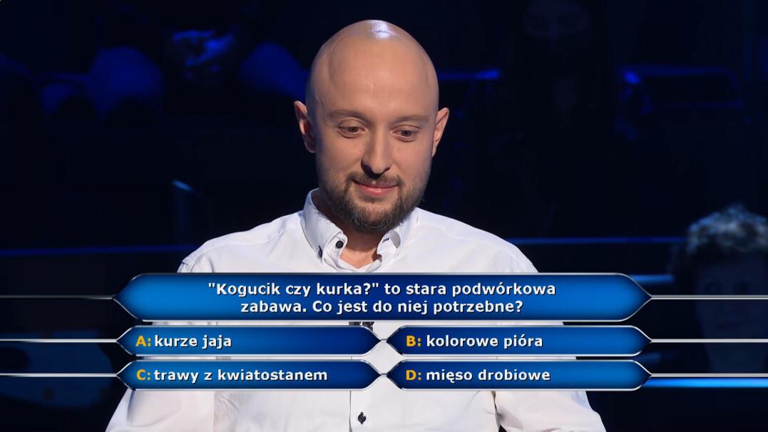 """""""Milionerzy"""": """"kogucik czy kurka"""" w pytaniu za pięć tysięcy złotych"""