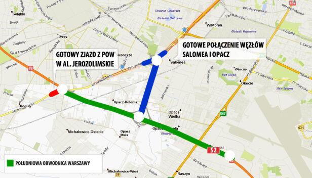 Gotowe odcinki dróg graf. tvn24.pl
