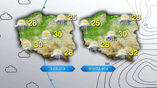 Prognoza pogody sobotę i niedzielę