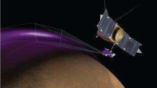 Mars zabarwił się na fioletowo