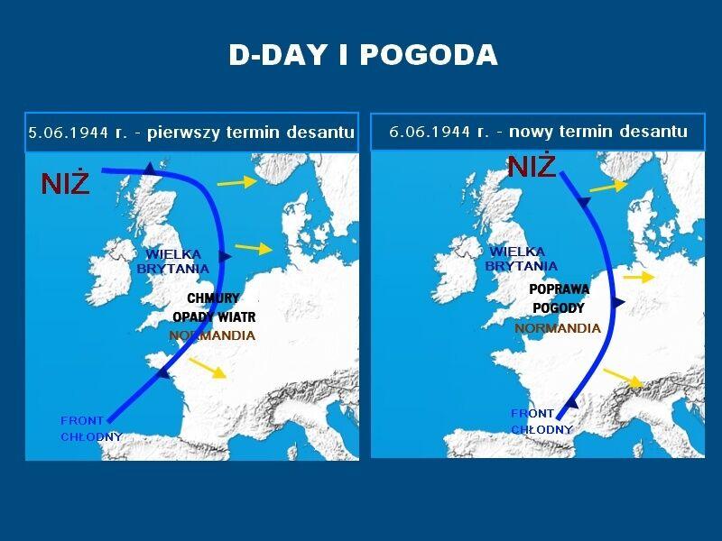 Sytuacja pogodowa w 1944 roku w Normandii
