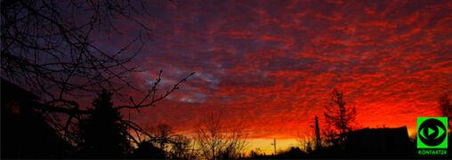 Krwawy wschód słońca w całym kraju. Zwiastował zmianę pogody