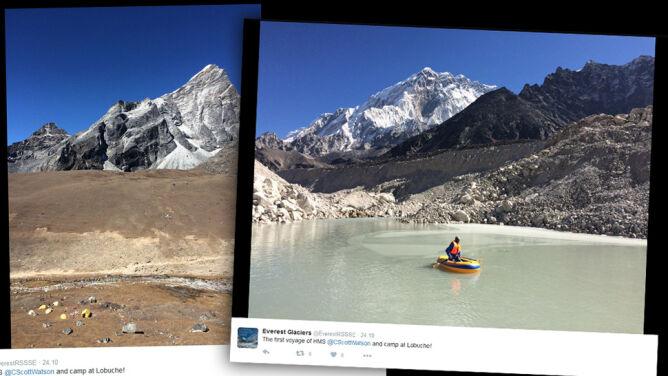 Niebezpieczne lodospady powstały <br />w rejonie Mount Everestu