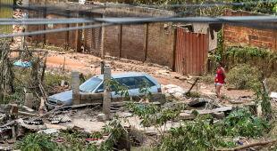 Powódź w Brazylii (PAP/EPA/Yuri Edmundo)