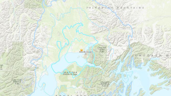 Trzęsienie ziemi o magnitudzie 5,4 na Alasce