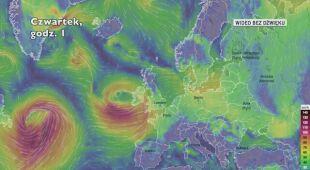 Porywy wiatru w Europie w najbliższych dniach