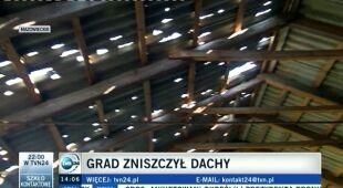Brygida Grysiak w zniszczonych przez nawałnicę regionach (TVN24)